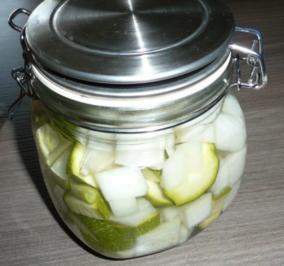 Einkochen : Zucchini und Kohlrabi - Rezept