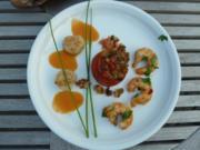 Mediterrane Variationen und Tomaten-Mozzarellaspießchen-Amuse-Gueule - Rezept
