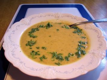 Gemüsesuppe aus Resten - püriert - Rezept