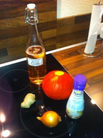 Kürbissuppe mit Cidre (Hokkaido) - Rezept - Bild Nr. 2