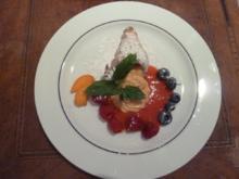 Schillerlocken gefüllt mit Aprikosen-Joghurt-Mousse - Rezept