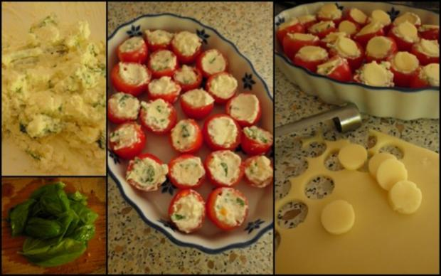 Gefüllte Kirschtomaten und Tomaten-Paprika-Suppe - Rezept - Bild Nr. 3