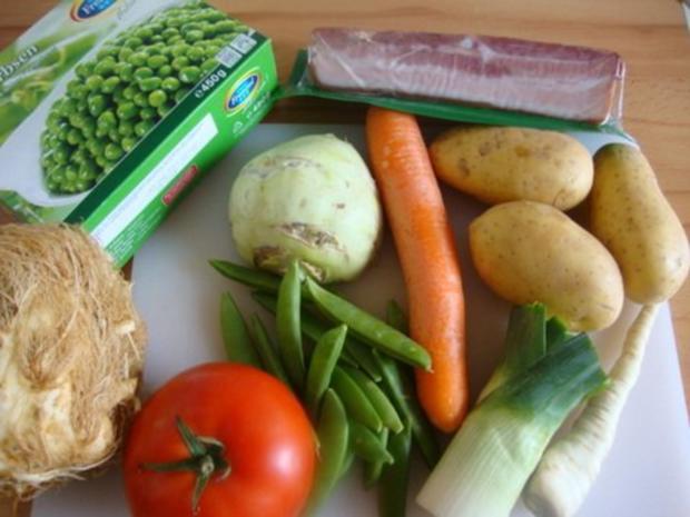 "Gemüsesuppe ""Querbeet"" mit kräftiger Grundlage - Rezept - Bild Nr. 9"