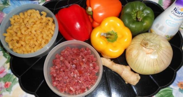 Hörnchennudeln mit einem Schinken-Gemüse-Mix - Rezept - Bild Nr. 2