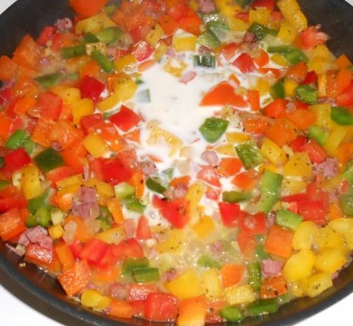 Hörnchennudeln mit einem Schinken-Gemüse-Mix - Rezept - Bild Nr. 8