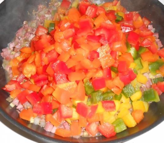 Hörnchennudeln mit einem Schinken-Gemüse-Mix - Rezept - Bild Nr. 7