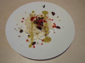 Marinierter Fenchelsalat mit Himbeeren aus Martell, Pistazien und Oliven - Rezept