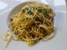 Knoblauch-Spaghetti leicht verschärft - Rezept