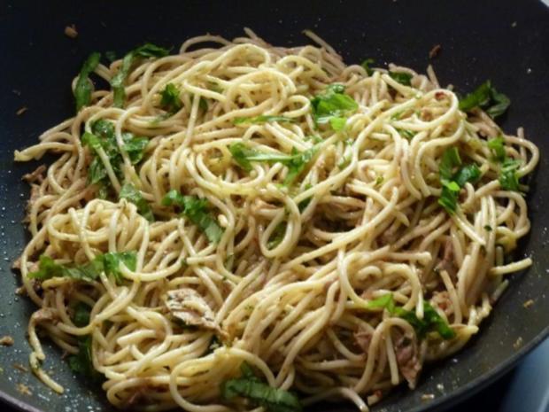 Knoblauch-Spaghetti leicht verschärft - Rezept - Bild Nr. 6