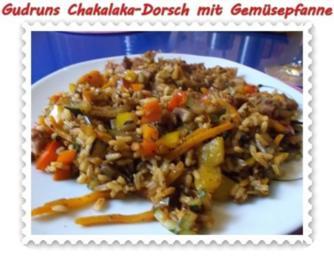 Fisch: Chakalaka-Dorsch mit pikanter Gemüse-Reispfanne - Rezept