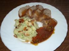Schweine Filet - mit Broccolikartoffeln - Rezept
