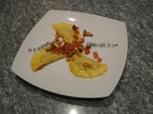 Teigtaschen mit Pfifferlingen - Davor Bellini, Bresaola-Röllchen und Zucchini-Shot - Rezept