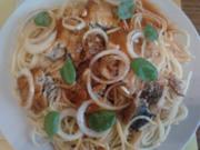 Spaghetti mit Tomatenfisch aus der Dose - Rezept
