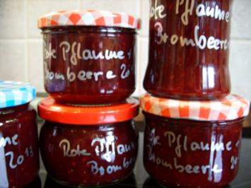 Rezept: Konfitüre & Co: Rote Pflaumen mit Brombeere 2013