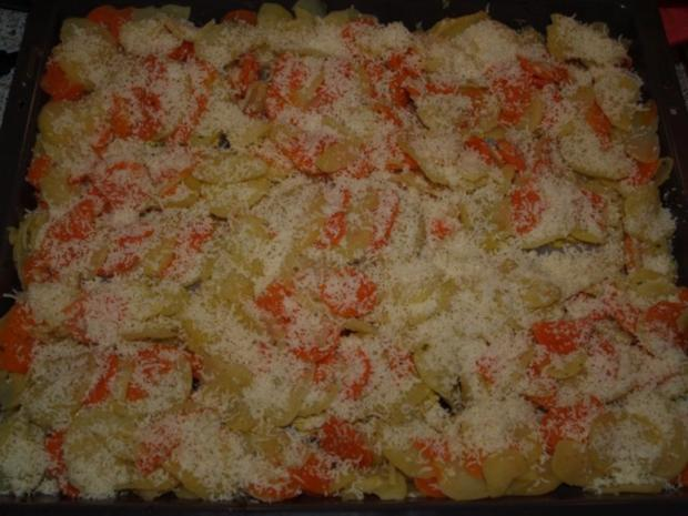 Kabeljau-Kartoffel-Möhren-Gratin - Rezept - Bild Nr. 4