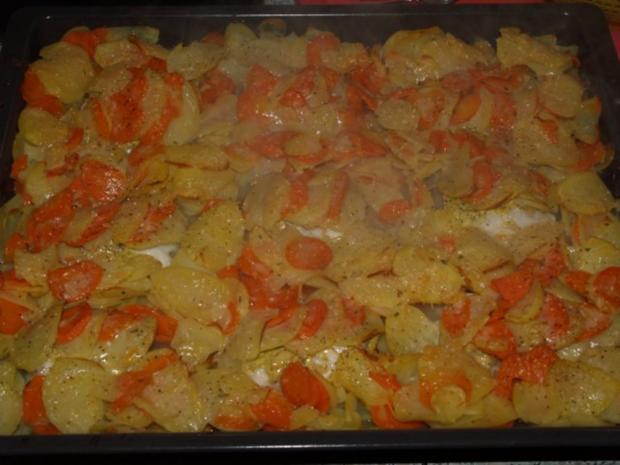 Kabeljau-Kartoffel-Möhren-Gratin - Rezept - Bild Nr. 5