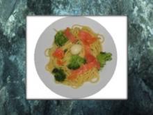 Spaghetti und Räucherlachs verbinden sich - Rezept