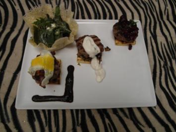 Dreierlei Burger mit Wildkräutersalat - Rezept
