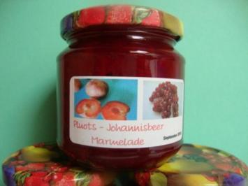 Rezept: Pluots - Johannisbeer Marmelade