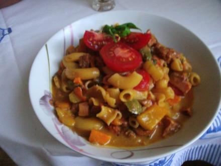 Bunte Käse - Hörnchen - Suppe - Rezept