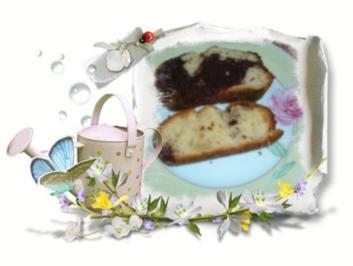 Kuchen :  Marmor mit Apfel - Rezept