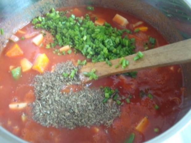 Tomatensuppe mit Gemüsevielfalt - Rezept - Bild Nr. 10