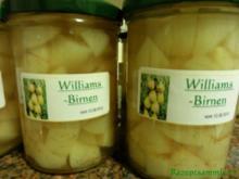 Einkochen:   WILLIAMS - BIRNEN - WÜRFEL - Rezept