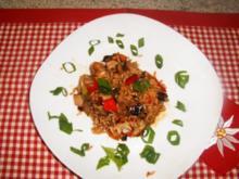 Hähnchen-Reispfanne gebraten - Rezept
