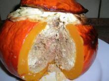 Kürbis mit Lammhack-Couscous-Fülle - Rezept