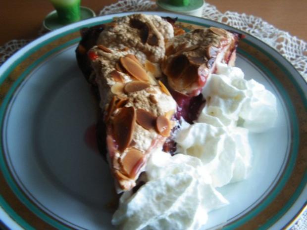 Pflaumenkuchen mit Zimtbaiser - Rezept