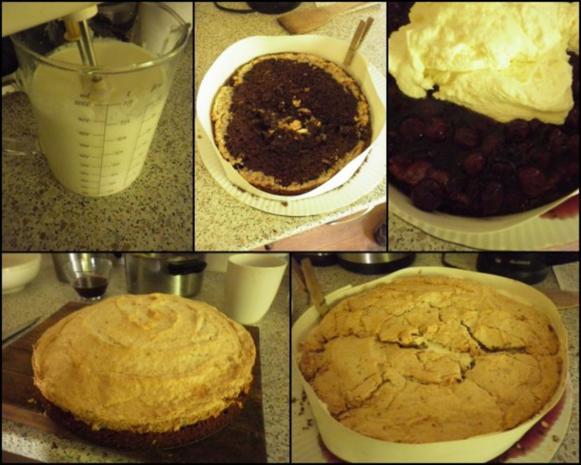 Kirsch-Schoko-Baiser-Torte - Rezept - Bild Nr. 5