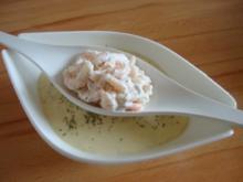 Selleriesüppchen mit ZitronenKrabben - Rezept