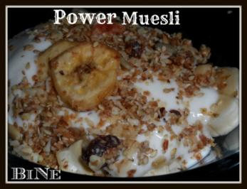 BiNe` S POWER MUESLI - Rezept