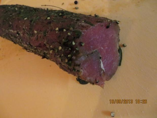 Fingerfood: Gebeiztes Schweinefilet - Rezept - Bild Nr. 2