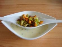 Kartoffelcremesuppe mit gebratenem Gemüse - Rezept