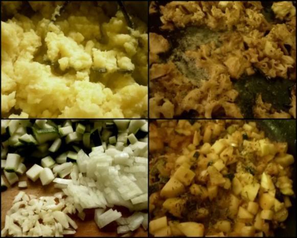 Parasolpilz-Schnitzel, Apfel-Zucchini-Gemüse und Kartoffelpüree - Rezept - Bild Nr. 3
