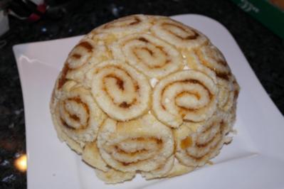 Torte: Pfirsich-Käsesahne-Charlotte - Rezept