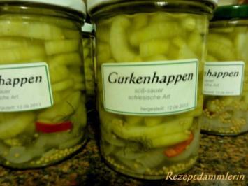Diverses:   SENF - GURKEN - HAPPEN - Rezept