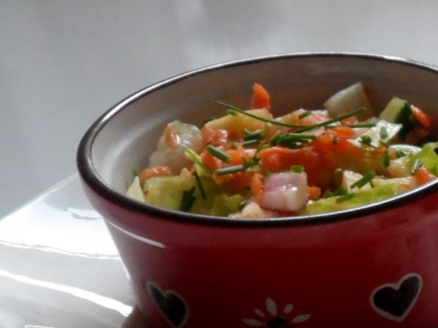 Frischer Karotten-Gurken-Salat mit Orangen-Senf-Dressing - Rezept - Bild Nr. 6