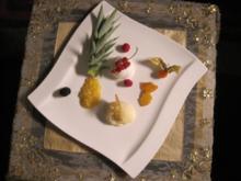 Variation von Kokos und Ananas - Rezept