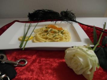Rezept: Verführerische Spaghettini mit Wodka-Kaviar-Soße