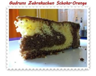 Kuchen: Zebrakuchen Schoko-Orange - Rezept