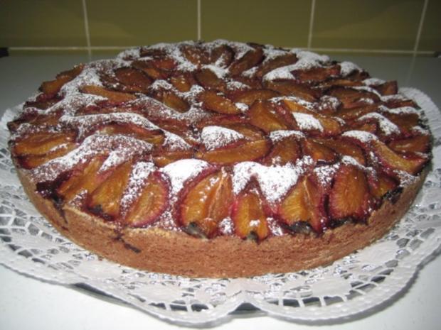 Zwetschgen Rotwein Schoko Kuchen - Rezept - Bild Nr. 3
