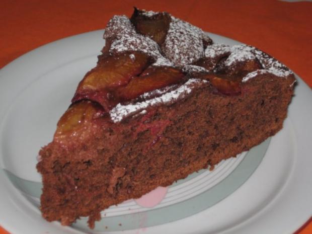 Zwetschgen Rotwein Schoko Kuchen - Rezept - Bild Nr. 2