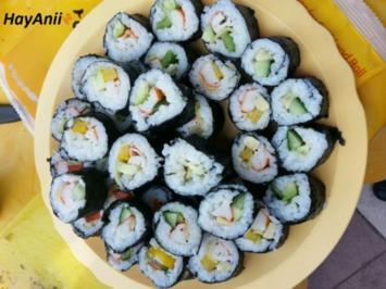 18 sushi mit fleisch und surimi rezepte. Black Bedroom Furniture Sets. Home Design Ideas