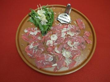 Rezept: Bison-Carpaccio mit Trüffel