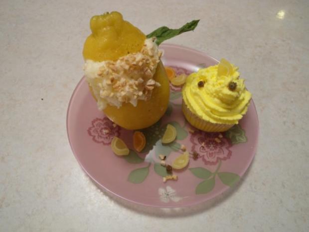 Zitronen-Cup-Cake mit Zitronencreme - Rezept