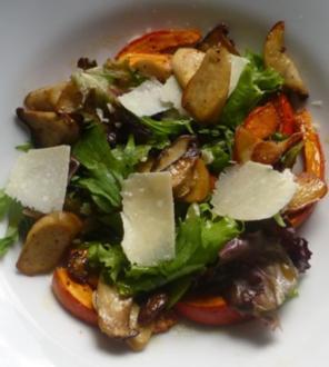 Lauwarmer Steinpilz-Kürbis-Salat - Rezept