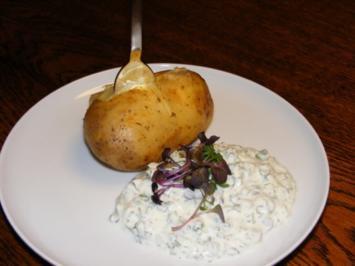 Folienkartoffel mit Kräuterquark - Rezept