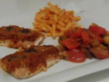 Überbackene Tomaten-Wildlachsfilets unter einer Parmesankruste - Rezept